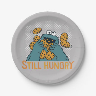 Sesame Street | Cookie Monster - Still Hungry 7 Inch Paper Plate