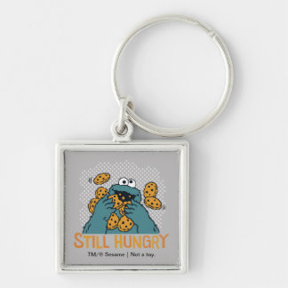 Sesame Street | Cookie Monster - Still Hungry Silver-Colored Square Keychain
