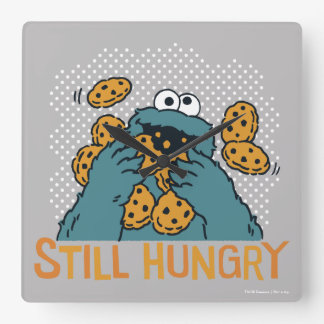 Sesame Street | Cookie Monster - Still Hungry Square Wall Clock