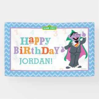 Sesame Street   Count von Count Birthday Banner