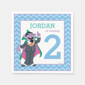 Sesame Street   Count von Count Birthday Disposable Napkins