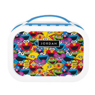 Sesame Street Crew Pattern | Add Your Name Lunchboxes