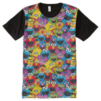 Sesame Street Crew Pattern All-Over-Print T-Shirt