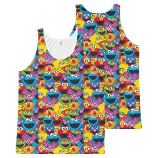 Sesame Street Crew Pattern All-Over-Print Tank Top