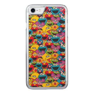 Sesame Street Crew Pattern Carved iPhone 7 Case