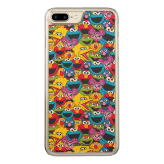 Sesame Street Crew Pattern Carved iPhone 7 Plus Case