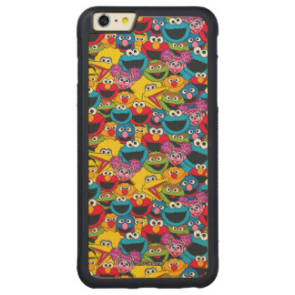 Sesame Street Crew Pattern Carved® Maple iPhone 6 Plus Bumper Case