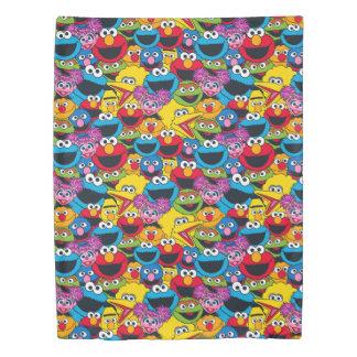 Sesame Street Crew Pattern Duvet Cover
