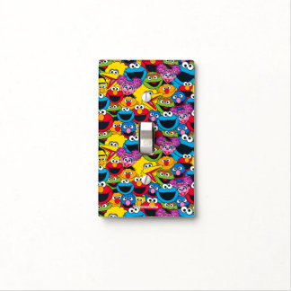 Sesame Street Crew Pattern Light Switch Cover