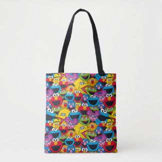 Sesame Street Crew Pattern Tote Bag