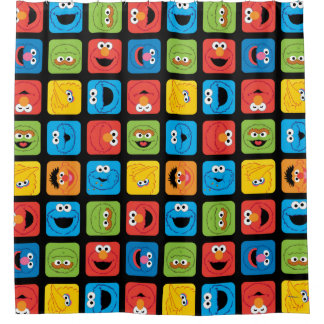 Sesame Street Cubed Faces Pattern