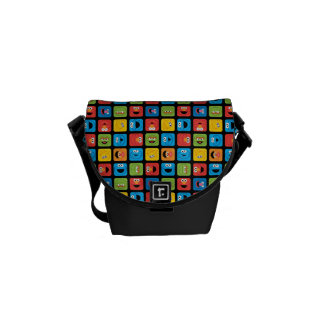 Sesame Street Cubed Faces Pattern Courier Bag