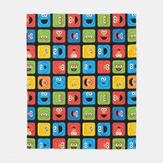 Sesame Street Cubed Faces Pattern Fleece Blanket