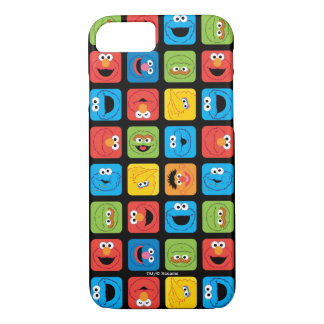 Sesame Street Cubed Faces Pattern iPhone 7 Case