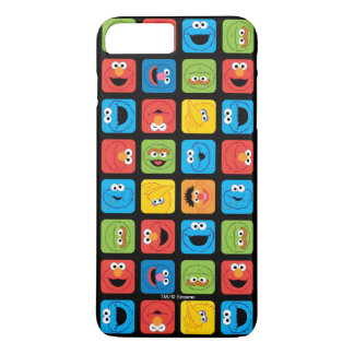 Sesame Street Cubed Faces Pattern iPhone 7 Plus Case
