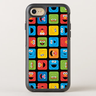 Sesame Street Cubed Faces Pattern OtterBox Symmetry iPhone 7 Case