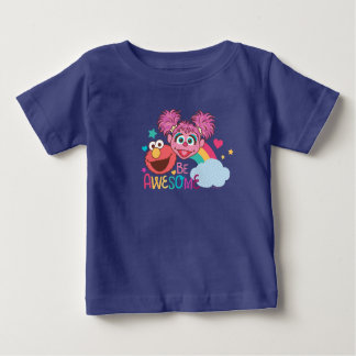 Sesame Street | Elmo & Abby - Be Awesome Baby T-Shirt