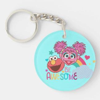 Sesame Street | Elmo & Abby - Be Awesome Keychain
