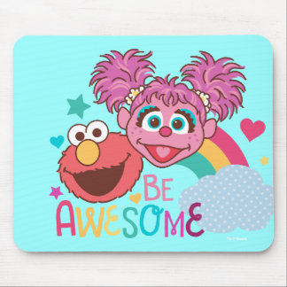 Sesame Street | Elmo & Abby - Be Awesome Mouse Pad