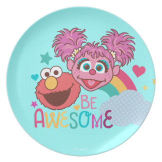 Sesame Street | Elmo & Abby - Be Awesome Plate