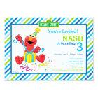 Sesame Street | Elmo - Boys Birthday Striped Invit Card