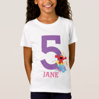 Sesame Street | Elmo Girl's 5th Birthday T-Shirt