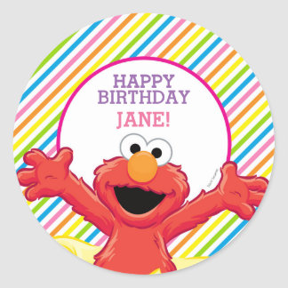 Sesame Street | Elmo Girl's Birthday Classic Round Sticker