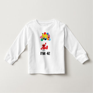 Sesame Street | Elmo & Pals -4th Birthday Toddler T-shirt