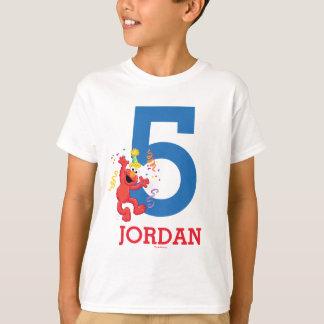 Sesame Street   Elmo - Rainbow 5th Birthday T-Shirt