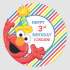 Sesame Street | Elmo - Rainbow Birthday Classic Round Sticker