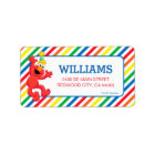 Sesame Street | Elmo - Rainbow Birthday Label