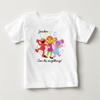 Sesame Street | Julia, Elmo & Abby Dancing Baby T-Shirt