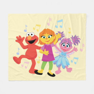Sesame Street | Julia, Elmo & Abby Dancing Fleece Blanket