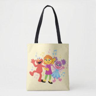Sesame Street | Julia, Elmo & Abby Dancing Tote Bag