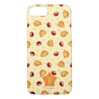 Sesame Street | Julia & Elmo Yellow Star Pattern iPhone 8/7 Case