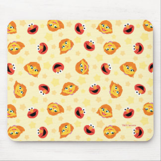 Sesame Street | Julia & Elmo Yellow Star Pattern Mouse Pad