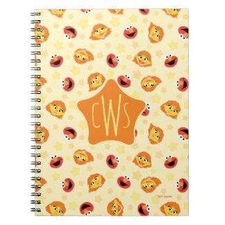 Sesame Street | Julia & Elmo Yellow Star Pattern Spiral Notebook