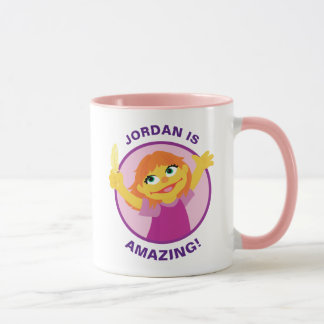 Sesame Street   Julia Holding Feather Mug