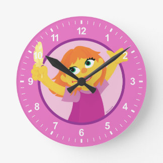Sesame Street | Julia Holding Feather Round Clock