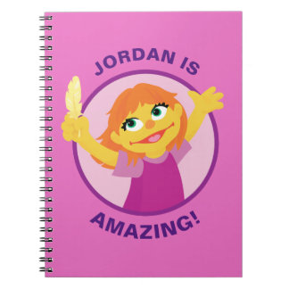 Sesame Street | Julia Holding Feather Spiral Notebook