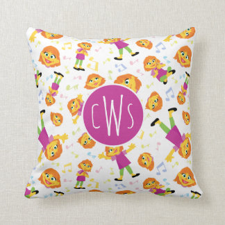 Sesame Street | Julia Music Pattern Throw Pillow