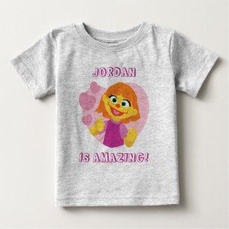 Sesame Street | Julia Pink Heart Baby T-Shirt