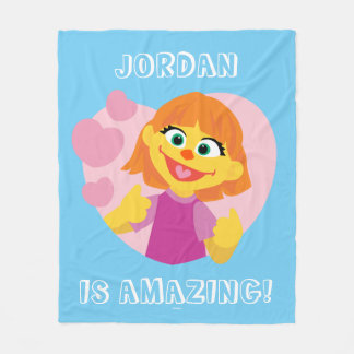 Sesame Street | Julia Pink Heart Fleece Blanket