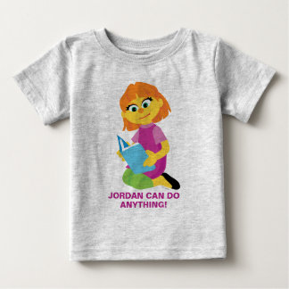 Sesame Street | Julia Reading a Book Baby T-Shirt
