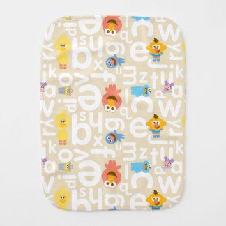 Sesame Street Pals Alphabet Pattern Burp Cloth