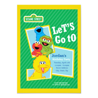 "Sesame Street Pals Birthday 4.5"" X 6.25"" Invitation Card"