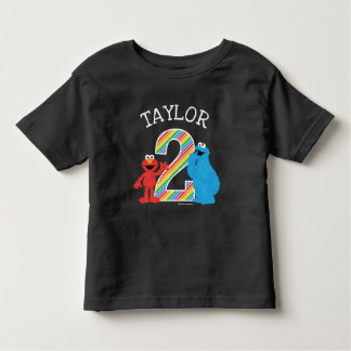 Sesame Street Pals Chalkboard Rainbow 2nd Birthday Toddler T-shirt