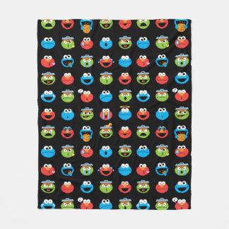 Sesame Street Pals Emoji Pattern Fleece Blanket