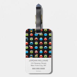 Sesame Street Pals Emoji Pattern Luggage Tag