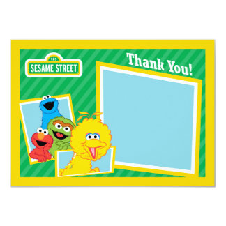 "Sesame Street Pals Thank You 4.5"" X 6.25"" Invitation Card"